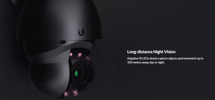 Long-distance Night Vision - Adaptive IR LEDs clearly capture objects and movement up to 100 meters away, day or night.