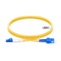 Fibre Optic Patch Lead LC/SC Duplex SMF PVC 2M